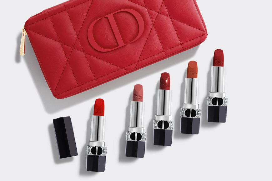 Dior - Rouge Dior Refillable lipstick collection - couture colour & floral lip care - long wear Open gallery