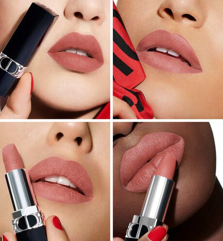 Dior - Rouge Dior Refillable lipstick with 4 couture finishes: satin, matte, metallic & new velvet - 39 Open gallery