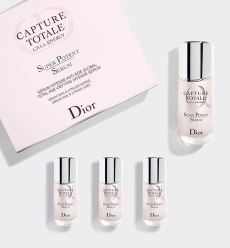 Dior - Capture Totale Super Potent Serum Sérum intense anti-âge global format 50 ml & trois sérums taille voyage